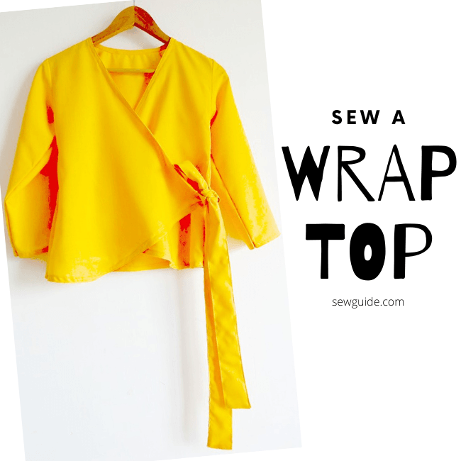Cut and Sew a Wrap top : Step by Step tutorial