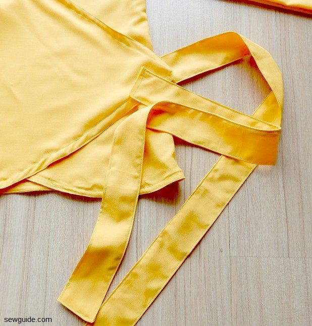how to sew wrap top