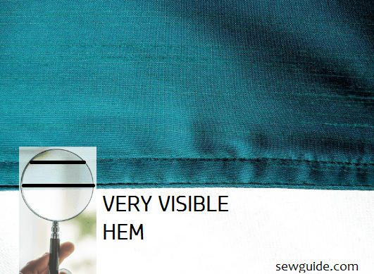 Invisible hem