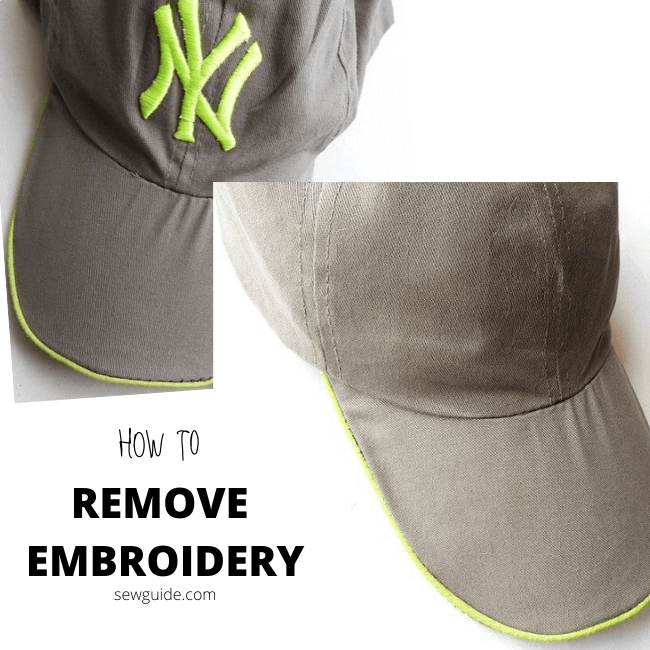 remove embroidery from clothes