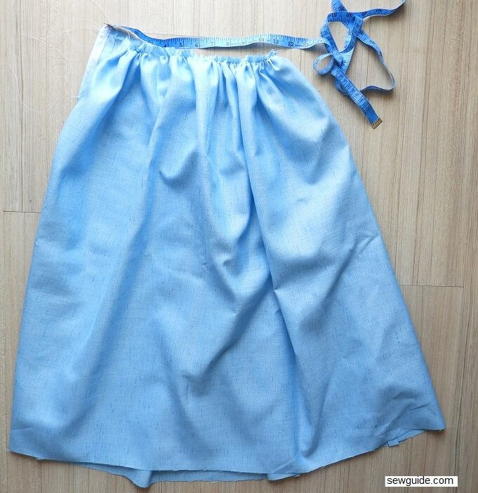 Dirndl skirt - Sewing tutorial to make  this gathered skirt yourself