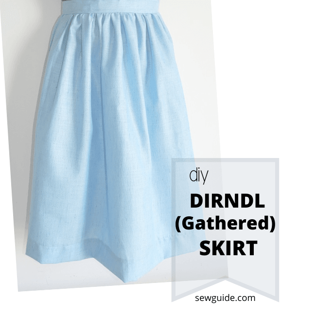 gathered dirndle skirt