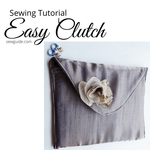 easy clutch sewing tutorial