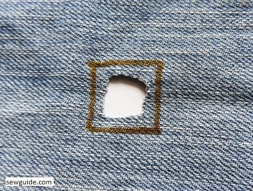 how to repair torn jeans
