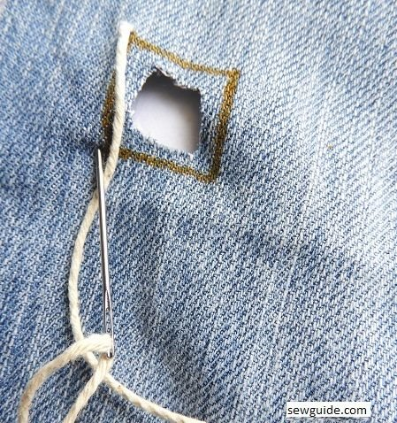 repair holes on jeans