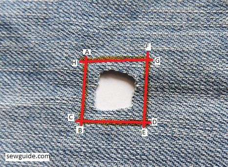 how to fix hole on jeans