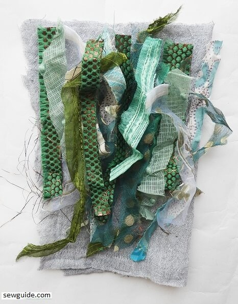 make fabric from fabric scraps