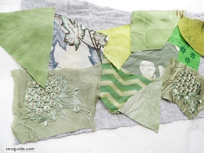 use fabric scrap pieces to make fabric