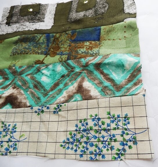 make fabric with fabric scraps