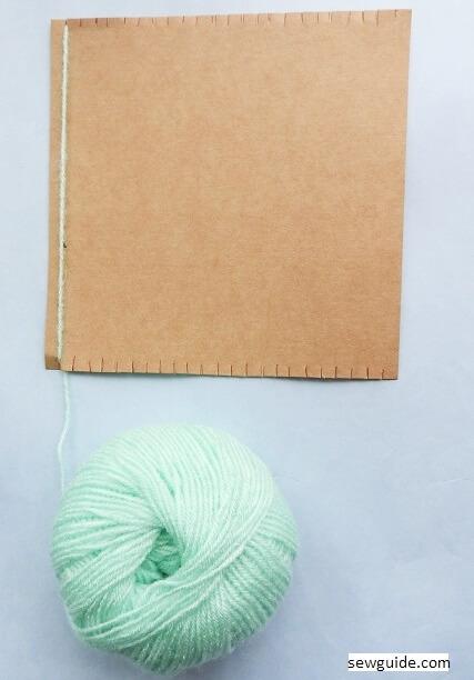 carboard loom handweaving fabric