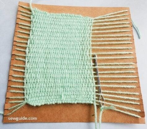 How to make a simple handmade Handweaving loom with cardboard & make your own fabric