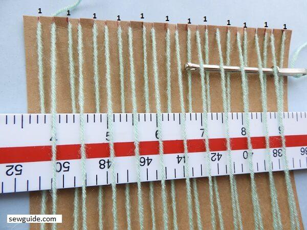 make a cardboard fabric weavingloom