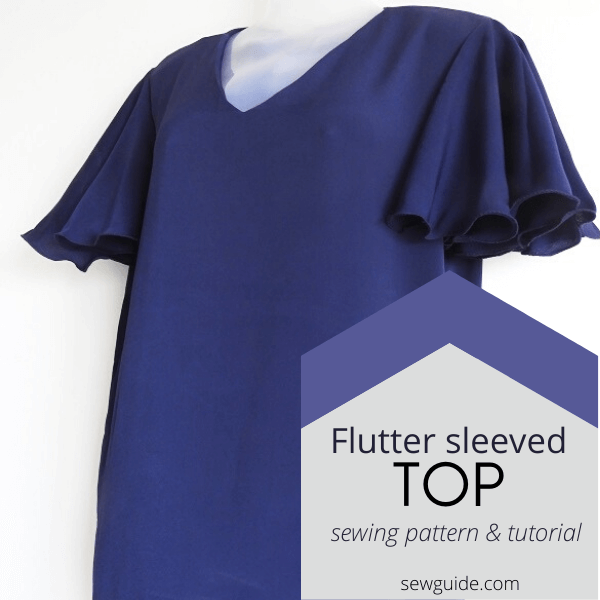 flutter sleeved top sewing pattern