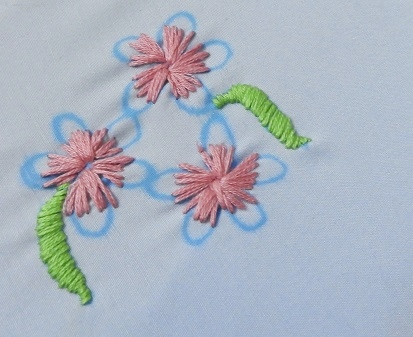 Small & cute Embroidery designs for Bed sheets & Pillowcovers