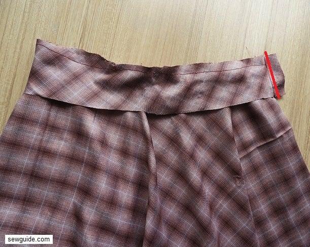 sew elastic skirt