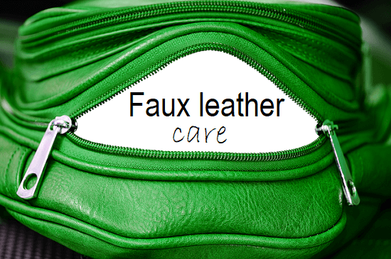 faux leather care