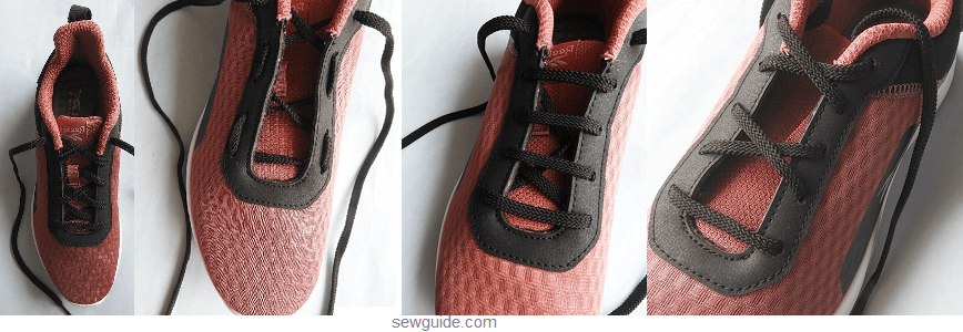tie lace of shoes
