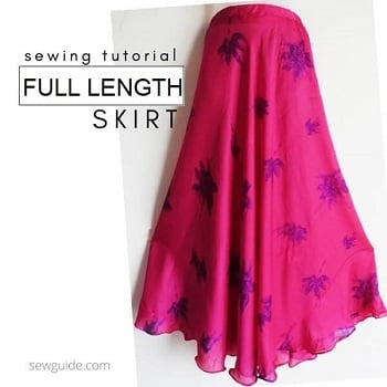 how to sew a full length skirt
