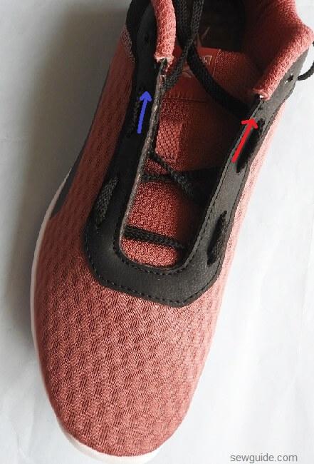 shoe lace tying
