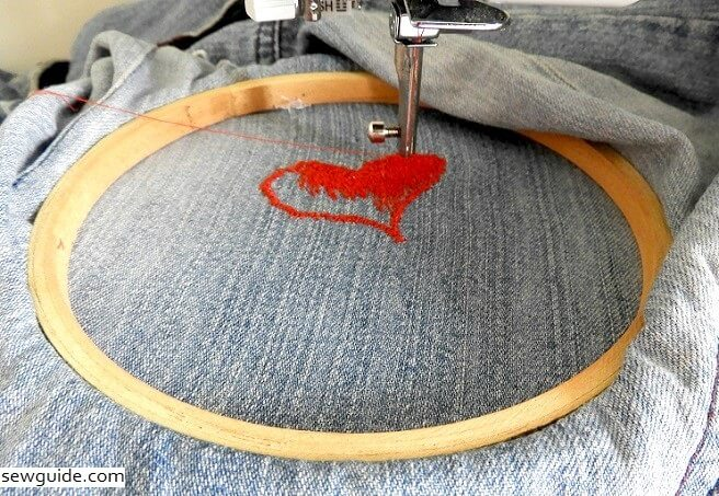 embroider with a sewing machine
