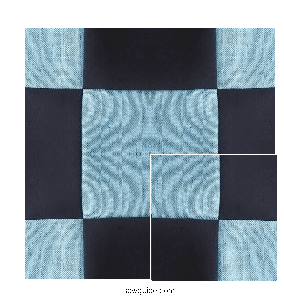How to sew a 4 Patch Square block {Very Fast}