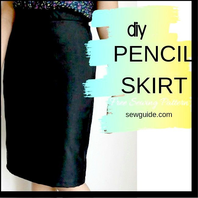 Fitted slim-line skirt with texture