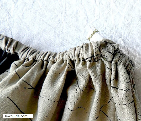 Sew a gathered skirt with pockets {Sewing tutorials}