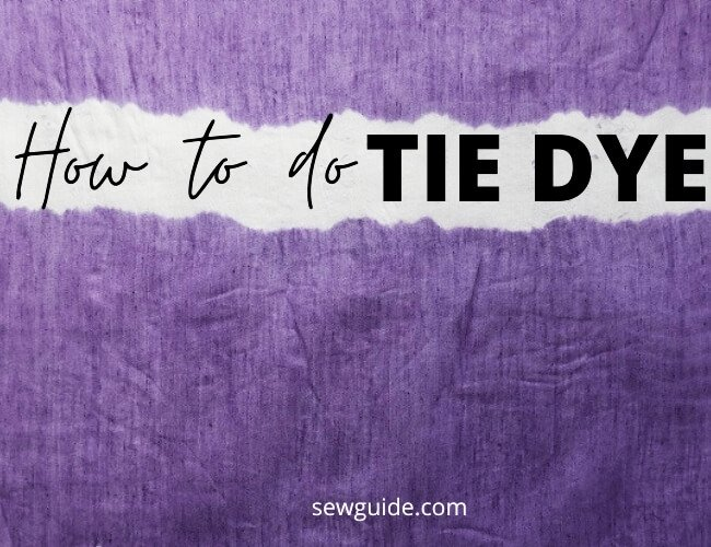 how to do tie dye patterns