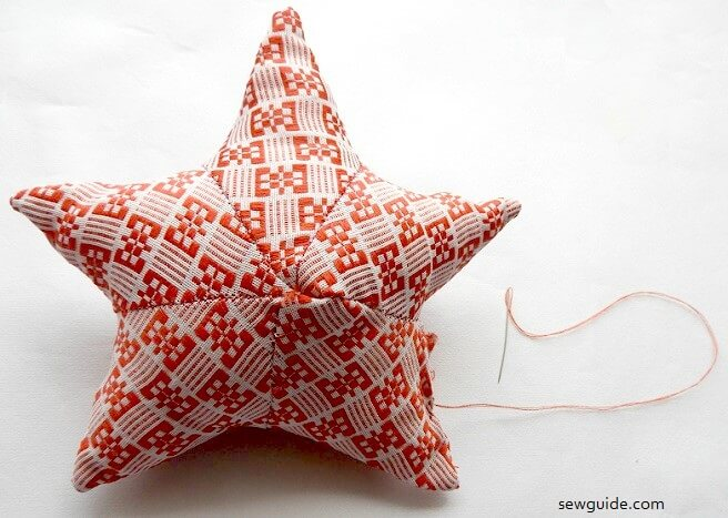 sewing tutorial for a star with fabric