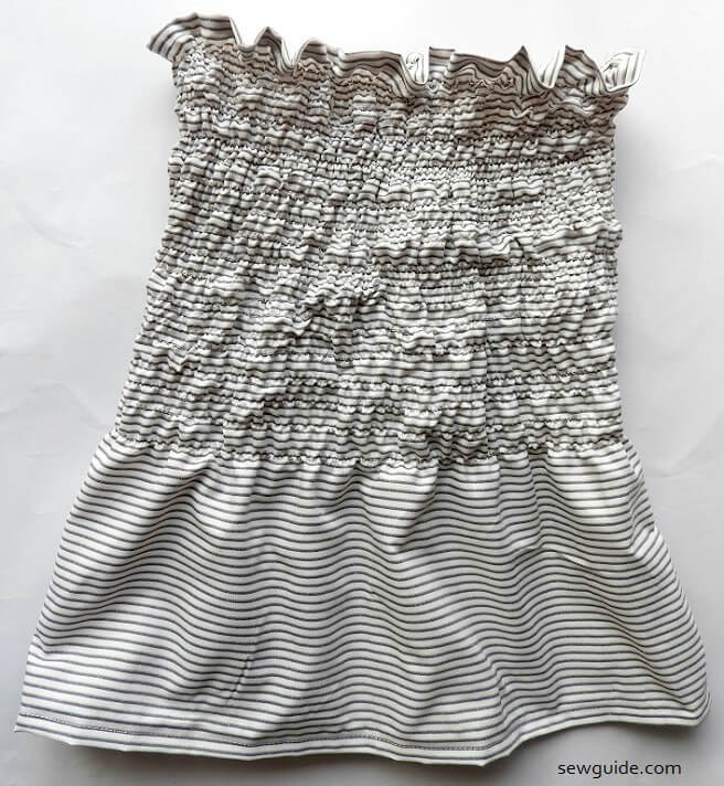 shirred tube top - strapless top