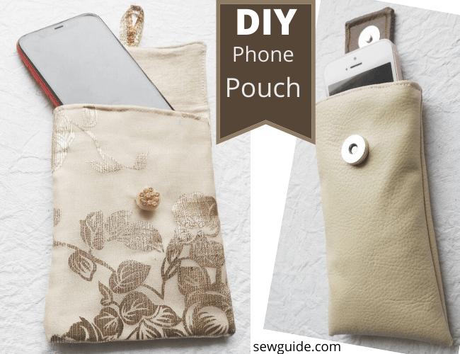 DIY -phone pouch