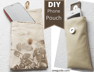 phone pouch sewing tutorial