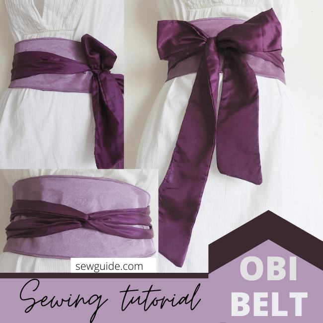 obi belt sewing