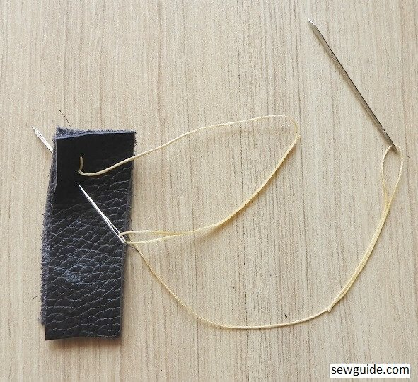 how to hand stitch leather
