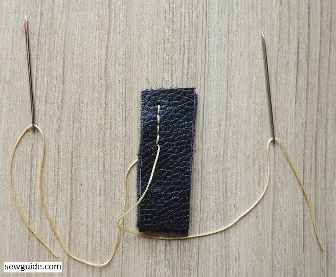 handsewing leather