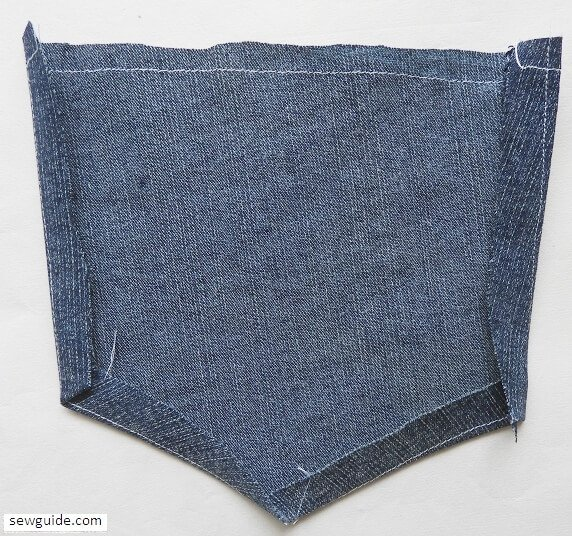 how to sew patch pocket