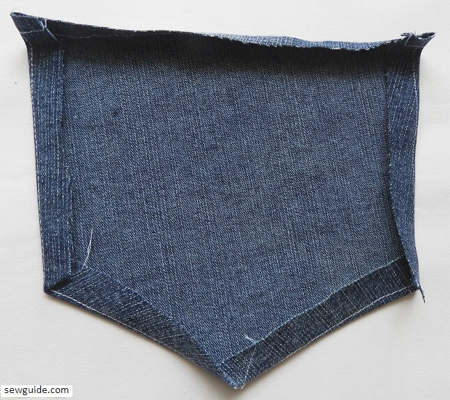 sewing Jeans patch pocket