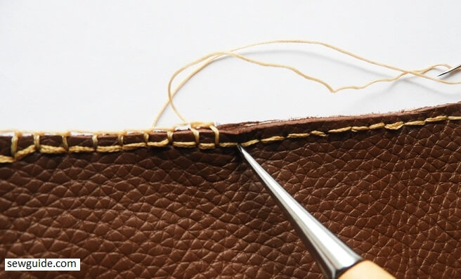 how to sew a leather pouch