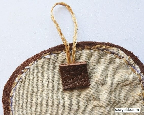 how to sew leather pouch