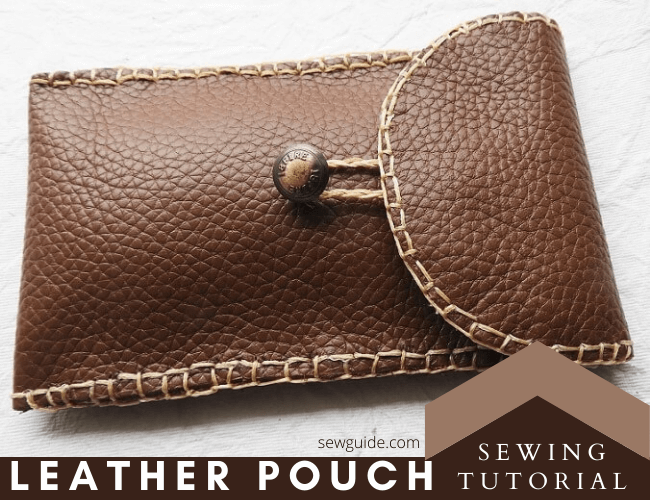 leather pouch sewing tutorial