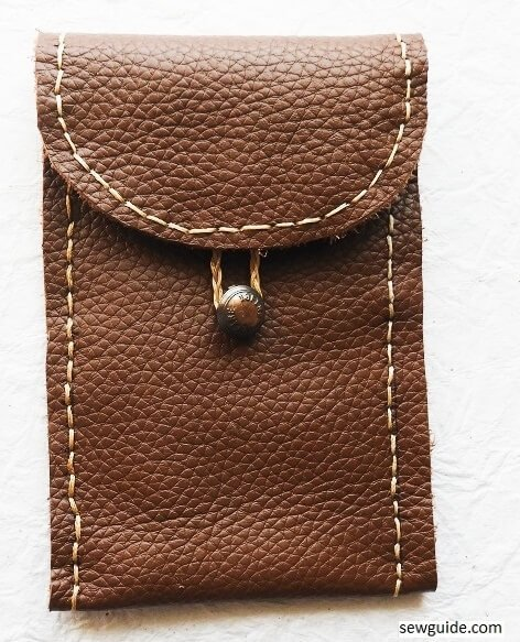 sewing tutorial leather pouch