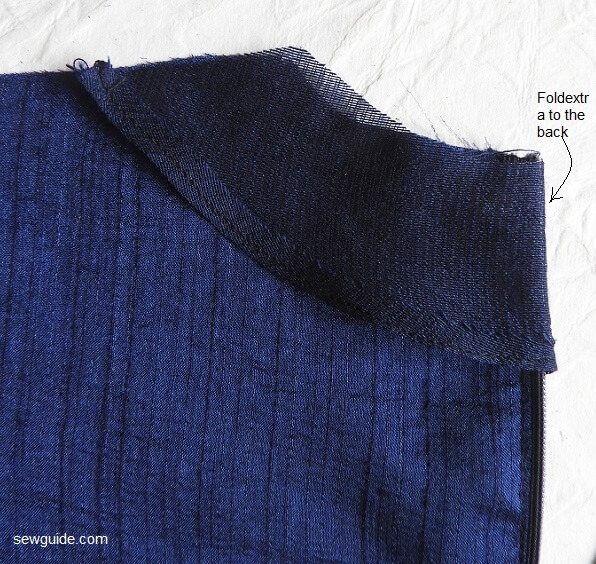 sewing neckline with facing