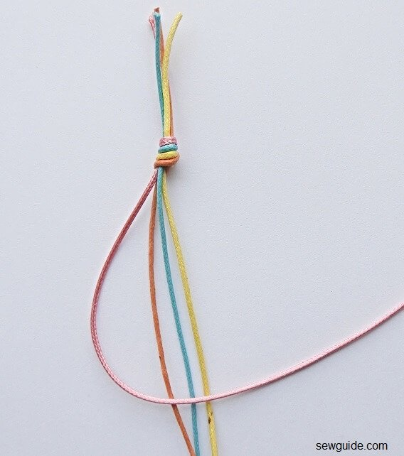 make a 4 strand braid