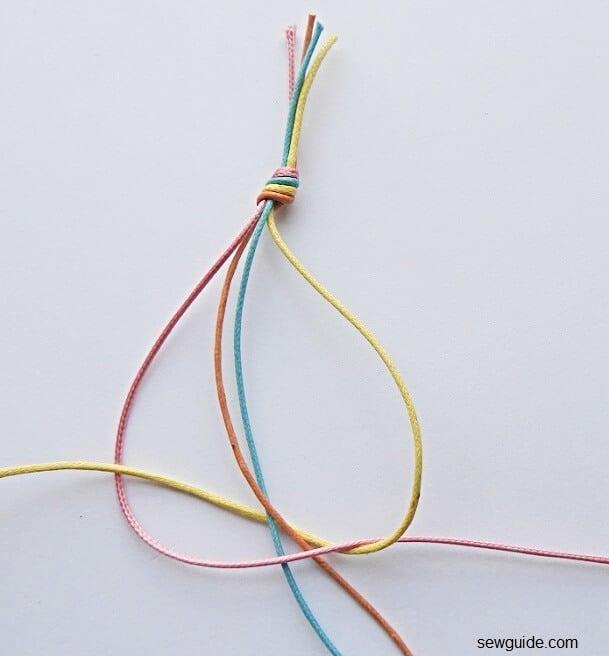 braiding 4 strands into a braid