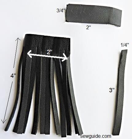 make leather tassels