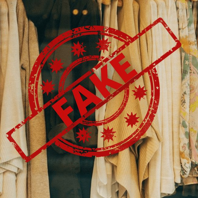 how to spot fake goods