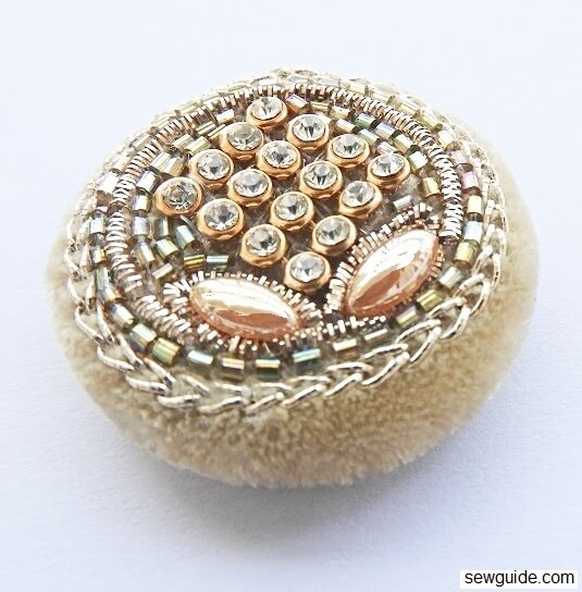 Make your own Bead covered Buttons : 3 ways