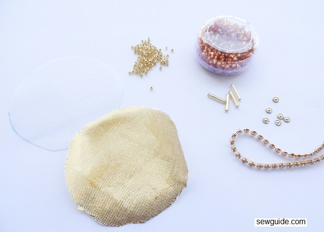 Make beaded buttons