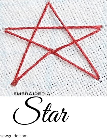 how to embroder a star