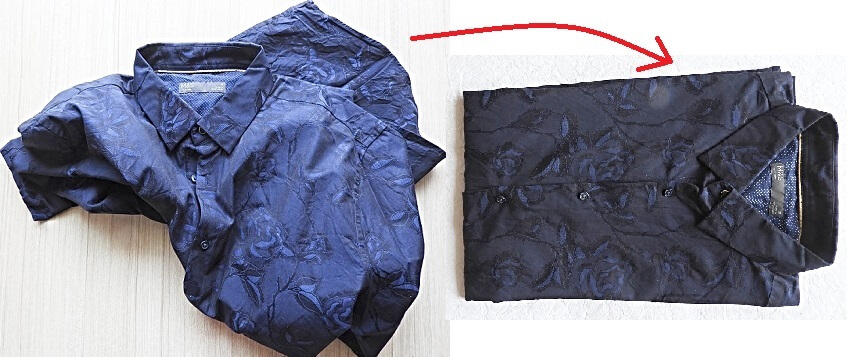 how to fold shirts